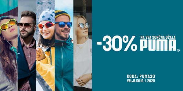 30% popust na sončna očala Puma