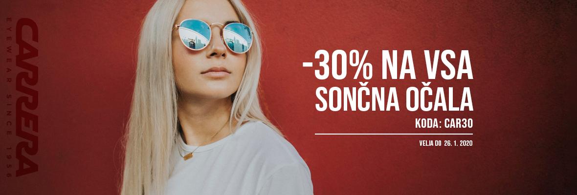 -30% na sončna očala Carrera