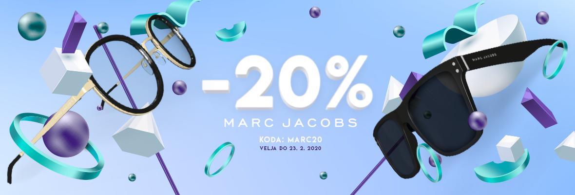 -20% na očala Marc  Jacobs