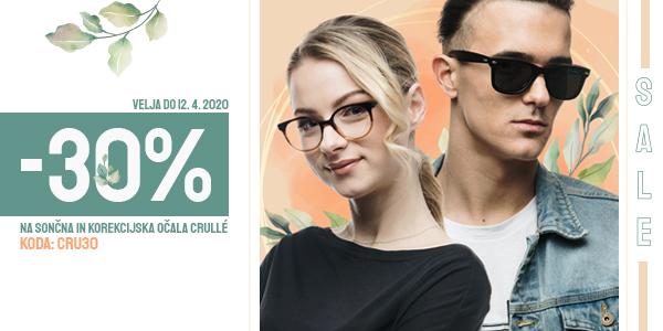 30% popust na VSA očala Crulle