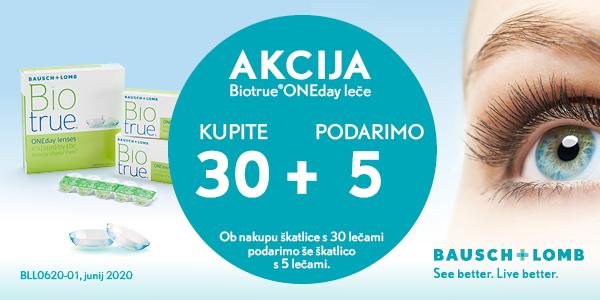 Biotrue OneDay 30 leč + 5 brezplačno