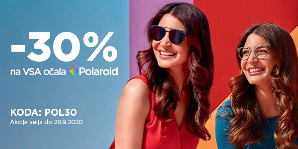 30% popust na VSA očala Polaroid