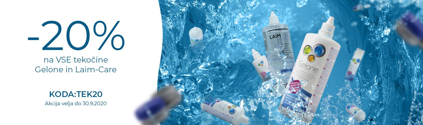 -20% na VSE tekočine Gelone in Laim-Care