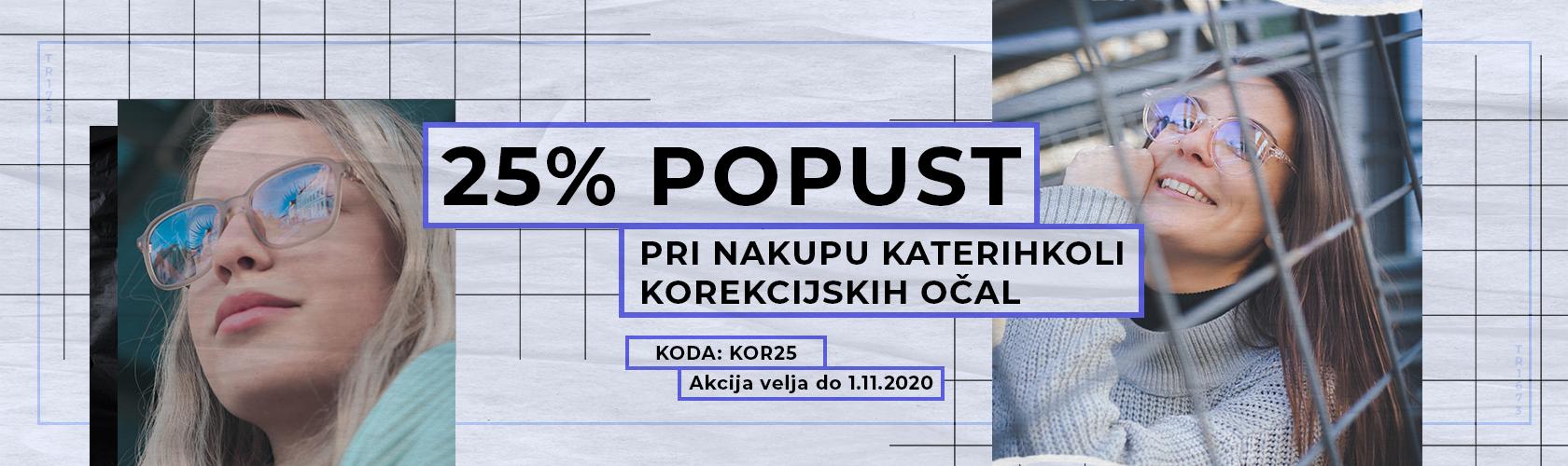 -25% na VSA korekcijska očala