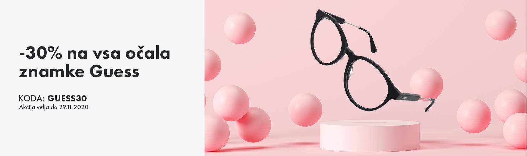 -30% na izbrana očala Guess