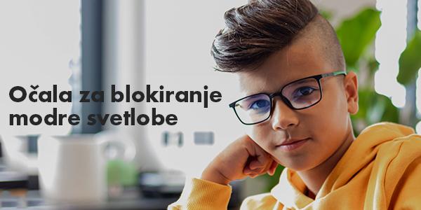 Otroška očala za blokiranje modre svetlobe