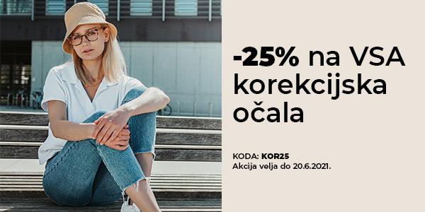 -25% na VSO korekcijo