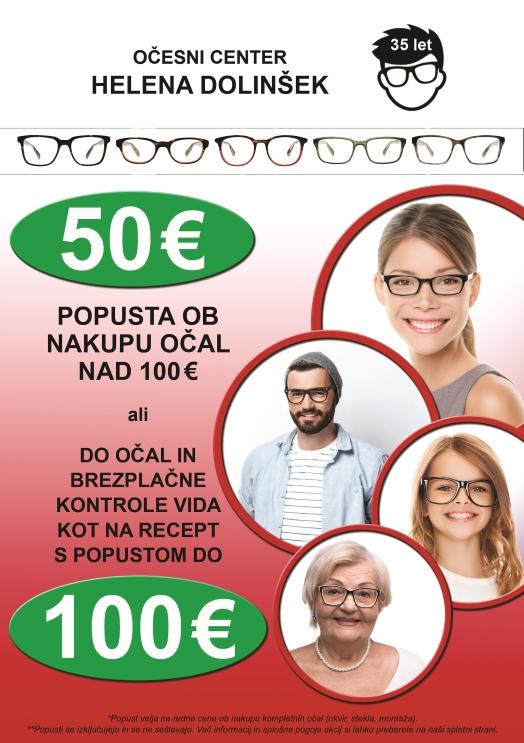 Ugodne cene korekcijskih očal in sončnih očal
