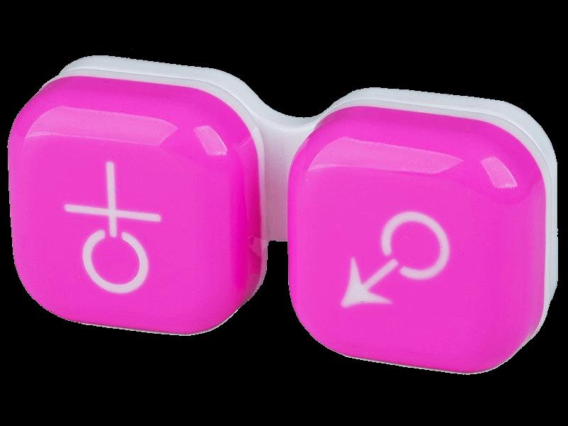 kutija za kontaktne leće roza