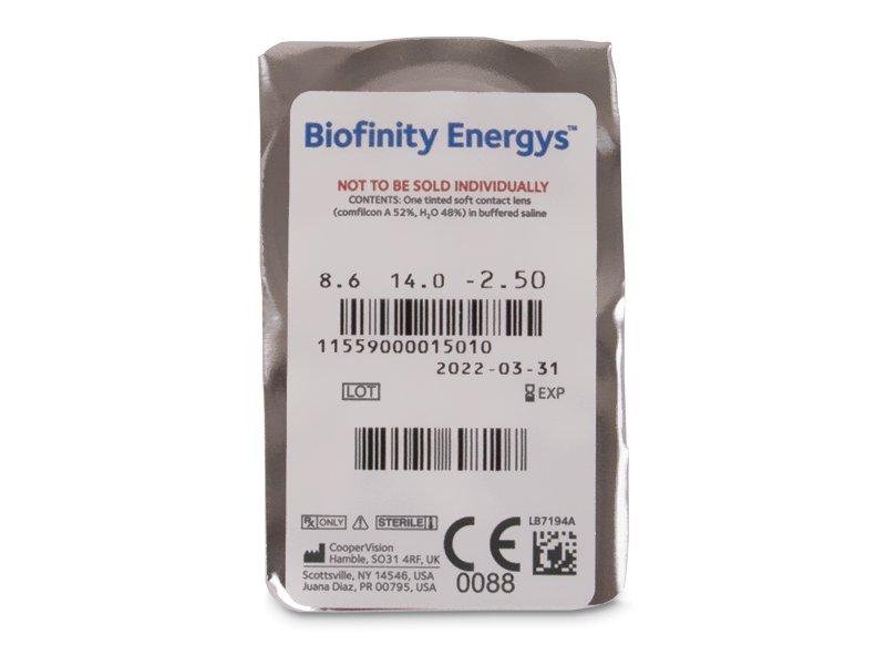 Biofinity Energys (6 leč) - Predogled blister embalaže