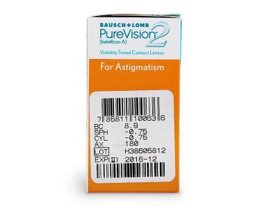 Predogled lastnosti - PureVision 2 for Astigmatism (6leč)