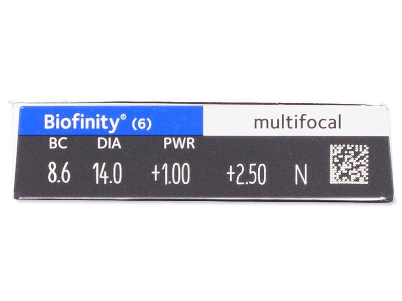 Biofinity Multifocal (6leč) - Predogled lastnosti
