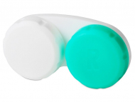 Škatlice za kontaktne leče - Škatlica za leče Green & White L+R