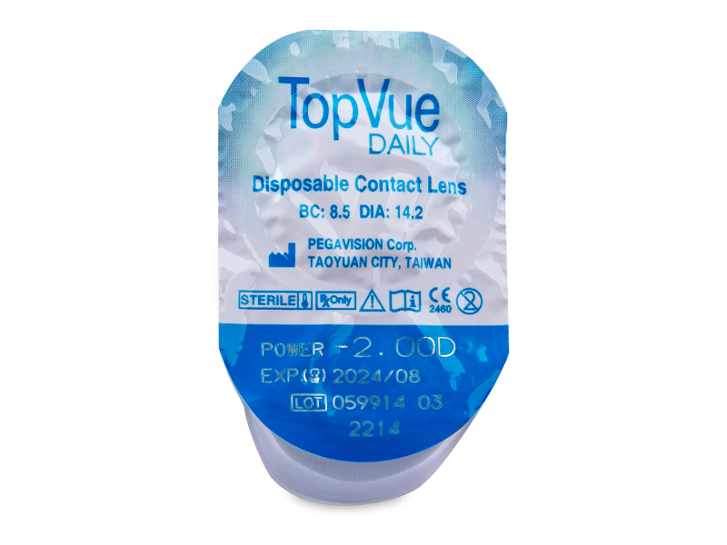 TopVue Daily (180 leč) - Predogled blister embalaže