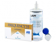 Frequency 55 Aspheric (6 leč) + tekočina Laim-Care 400ml