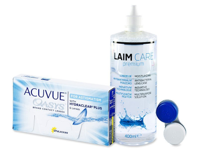 Acuvue Oasys for Astigmatism (6 leč) + tekočina LAIM-CARE 400ml