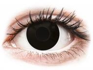 Barvne kontaktne leče brez dioptrije - ColourVUE Crazy Lens - BlackOut - brez dioptrije (2 leči)