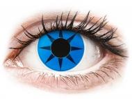 Crazy kontaktne leče - brez dioptrije - ColourVUE Crazy Lens - Blue Star - brez dioptrije (2 leči)