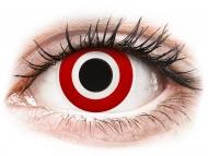 Rdeče kontaktne leče - brez dioptrije - ColourVUE Crazy Lens - Bulls Eye - brez dioptrije (2 leči)