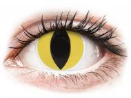 Barvne kontaktne leče brez dioptrije - ColourVUE Crazy Lens - Cat Eye - brez dioptrije (2 leči)