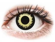 Barvne kontaktne leče brez dioptrije - ColourVUE Crazy Lens - Eclipse - brez dioptrije (2 leči)
