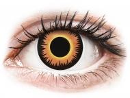 Barvne kontaktne leče brez dioptrije - ColourVUE Crazy Lens - Orange Werewolf - brez dioptrije (2 leči)