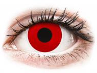 Rdeče kontaktne leče - brez dioptrije - ColourVUE Crazy Lens - Red Devil - brez dioptrije (2 leči)