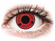 Rdeče kontaktne leče - brez dioptrije - ColourVUE Crazy Lens - Sasuke - brez dioptrije (2 leči)