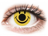Crazy kontaktne leče - brez dioptrije - ColourVUE Crazy Lens - Smiley - brez dioptrije (2 leči)