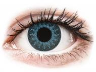 Posebne barvne leče - brez dioptrije - ColourVUE Crazy Lens - Solar Blue - brez dioptrije (2 leči)