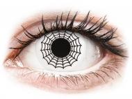 Bele kontaktne leče - brez dioptrije - ColourVUE Crazy Lens - Spider - brez dioptrije (2 leči)