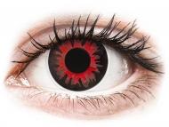 Rdeče kontaktne leče - brez dioptrije - ColourVUE Crazy Lens - Volturi - brez dioptrije (2 leči)