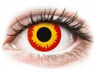 Rdeče kontaktne leče - brez dioptrije - ColourVUE Crazy Lens - Wildfire - brez dioptrije (2 leči)