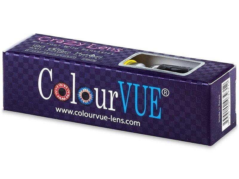 ColourVUE Crazy Lens - WhiteOut - brez dioptrije (2 leči)