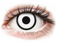 Bele kontaktne leče - z dioptrijo - ColourVUE Crazy Lens - White Zombie - z dioptrijo (2 leči)