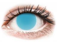Barvne kontaktne leče brez dioptrije - ColourVUE Crazy Glow Electric Blue - brez dioptrije (2 leči)