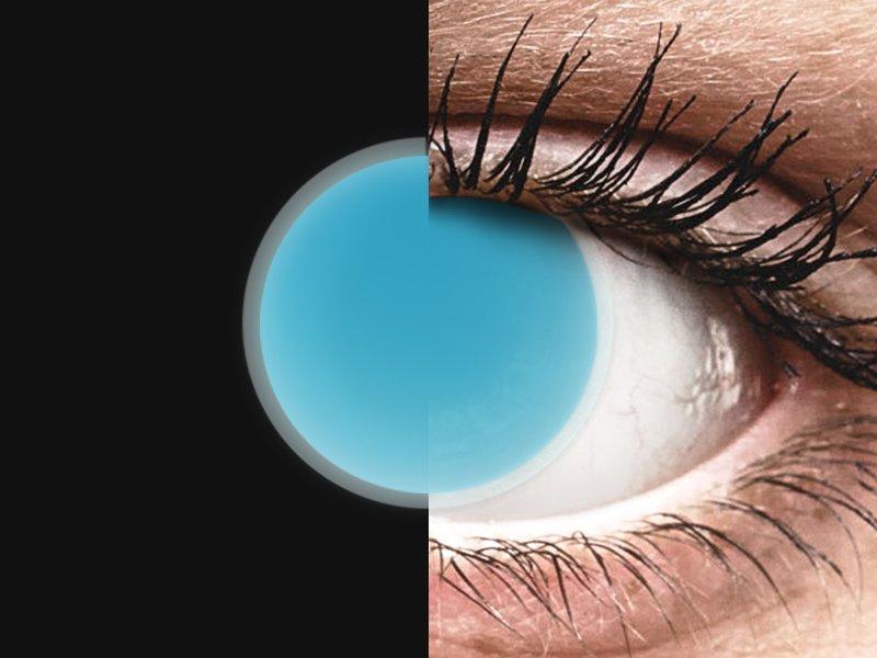 ColourVUE Crazy Glow Electric Blue - brez dioptrije (2 leči)