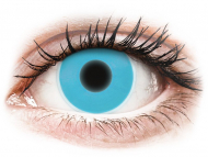 Barvne kontaktne leče brez dioptrije - ColourVUE Crazy Glow Blue - brez dioptrije (2 leči)