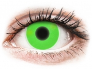 Barvne kontaktne leče brez dioptrije - ColourVUE Crazy Glow Green - brez dioptrije (2 leči)