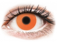 Barvne kontaktne leče brez dioptrije - ColourVUE Crazy Glow Orange - brez dioptrije (2 leči)