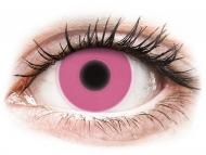 Crazy kontaktne leče - brez dioptrije - ColourVUE Crazy Glow Pink - brez dioptrije (2 leči)