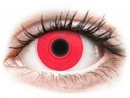Crazy kontaktne leče - brez dioptrije - ColourVUE Crazy Glow Red - brez dioptrije (2 leči)