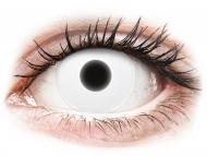 Bele kontaktne leče - brez dioptrije - ColourVUE Crazy Glow White - brez dioptrije (2 leči)