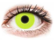 Crazy kontaktne leče - brez dioptrije - ColourVUE Crazy Glow Yellow - brez dioptrije (2 leči)