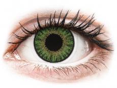 TopVue Color daily - Green - z dioptrijo (10 leč)