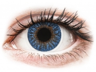 Modre kontaktne leče - brez dioptrije - TopVue Color - True Sapphire - brez dioptrije (2 leči)