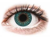 Modre kontaktne leče - brez dioptrije - TopVue Color - Turquoise - brez dioptrije (2 leči)