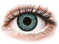 Modre kontaktne leče - brez dioptrije - ColourVUE Glamour Aqua - brez dioptrije (2 leči)