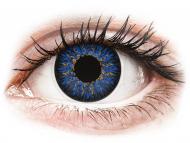 Modre kontaktne leče - brez dioptrije - ColourVUE Glamour Blue - brez dioptrije (2 leči)
