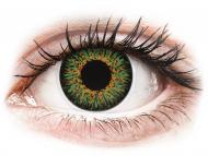 Zelene kontaktne leče - brez dioptrije - ColourVUE Glamour Green - brez dioptrije (2 leči)